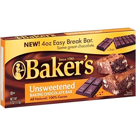Baker's Unsweetened Baking Chocolate Bar,