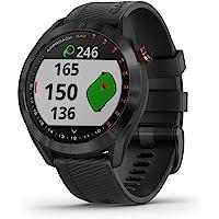 Garmin Approach S40, Elegante Reloj Inteligente con GPS para Golf, Unit Only, Acero Inoxidable Negro con Banda Negra.
