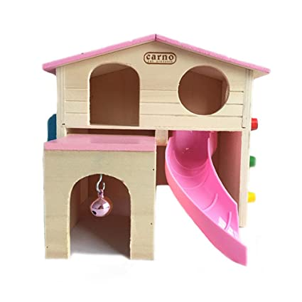 Tremendous Kathson Pet Small Animal Hideout Hamster House With Funny Climbing Ladder Slide Wooden Hut Play Toys Chews For Small Animals Like Dwarf Hamster And Ocoug Best Dining Table And Chair Ideas Images Ocougorg
