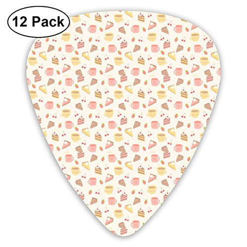V5DGFJH.B Sandwich and Cakes Classic Guitar Pick Player's Pack for Electric Guitar,Acoustic Guitar,Mandolin,Guitar Bass -