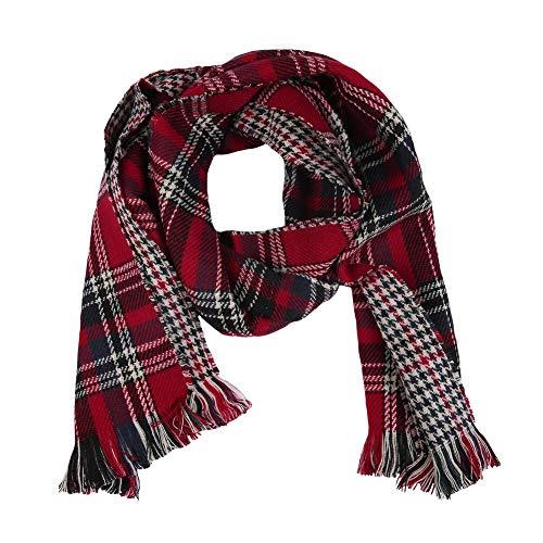 - Womens Long Scarfs Plaid Winter Fall Classic Tassels Tartan Wrap Shawls Scarves