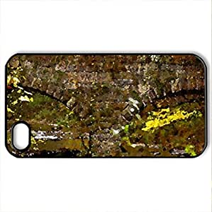 Forgotten Bridge - Case Cover for iPhone 4 and 4s (Bridges Series, Watercolor style, Black)