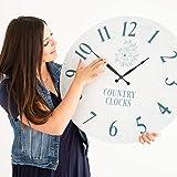Large Wall Clock 24 inches - Modern Rustic Wall Clock - Silent Wall Clock Decorative - Farmhouse Wall Clock - Oversized Wall Clock