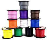 5 Rolls 100' Feet 16 GA Primary Remote Wire Auto Power Cable Stranded LED