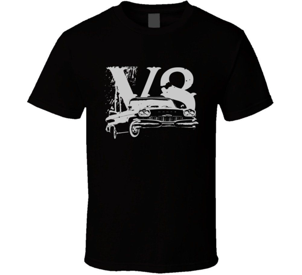 Cargeektees Com 1961 Polara Side View Faded Look With V8 Dark Color Car Lover Gift Enthusi