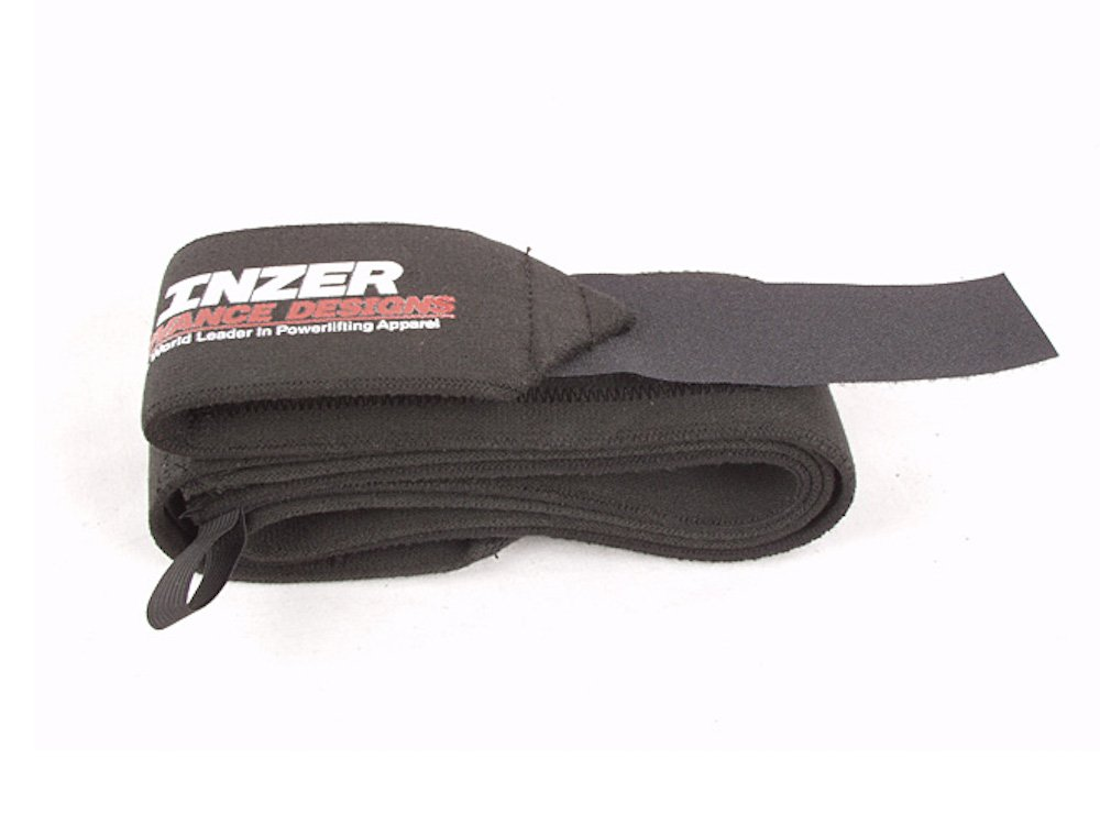 Inzer Black Beauty Wrist Wraps - Powerlifting Weightlifting Wraps (Pair) (Large (36''))
