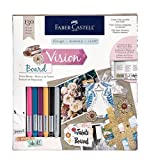 Faber-Castell Design Memory Craft Vision Board Kit, Ultra Fine Point with India Ink for Drawing, Lettering, Journaling and Calligraphy