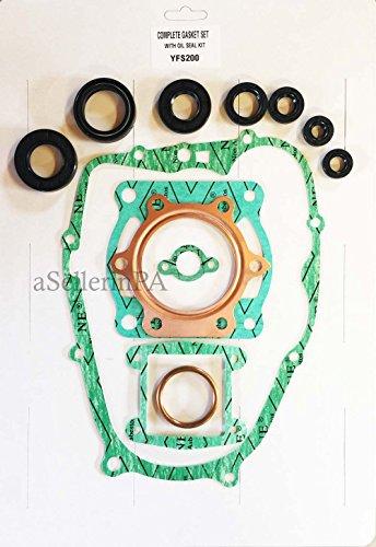 Complete Gasket & Oil Seal Kit Top and Bottom End Set YAMAHA BLASTER 200 (Complete Oil Seal)