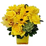Jewel Collection: Yellow Diamond by Ashland Addison - Fresh Flowers Hand Delivered - Chicago Area