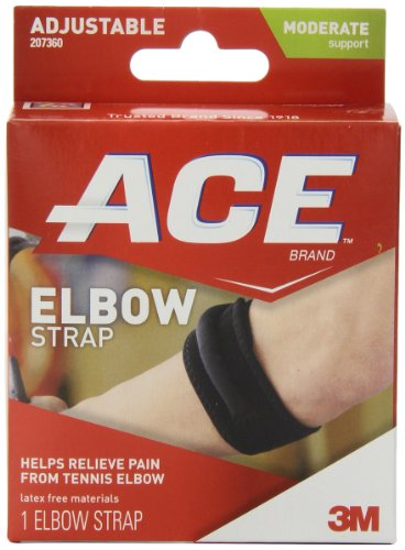ACE Elbow Strap, America's Most Trusted Brand of Braces and Supports, Money Back Satisfaction Guarantee