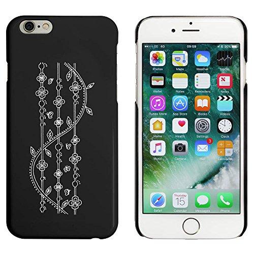 Noir 'Arrière-Plan à Motifs' étui / housse pour iPhone 6 & 6s (MC00005097)