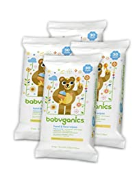 Babyganics Hand & Face Wipes, Fragrance Free, 30 Count (Pack of 4, 120 Total Wipes) BOBEBE Online Baby Store From New York to Miami and Los Angeles