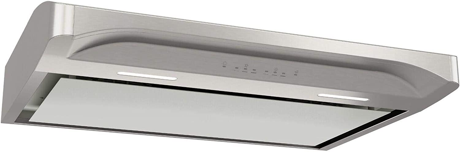 """Broan ALT430SS 30"""" Alta Series Convertible Under Cabinet Range Hood with 500 CFM, LED Lighting, Captur System and Open-Mesh Filters in Stainless Steel"""
