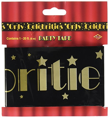 [Beistle 66108 Celebrities Only Party Tape, 3-Inch by 20-Feet] (Celebrity Halloween Costumes For Sale)