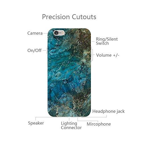 Vanki® iPhone 6S/6 Funda Silicona TPU Ultra Delgado Transparente Suave Case Cover para iPhone 6 Plus/6S Plus Mármol Diseño Mármol 5