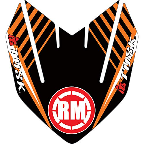 Attack Graphics Turbine Front Fender Decal Orange - Fits: KTM 525 MXC 4-Stroke - Fender Decal Front