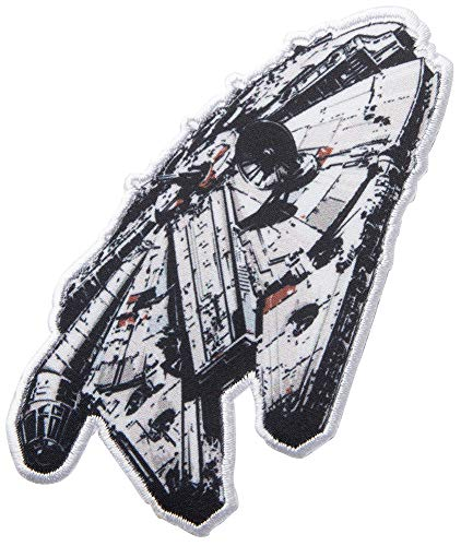 (Simplicity 1932179001 Star Wars Millennium Falcon Applique Clothing Iron On Patch, 4.1'' x 2.2'',)