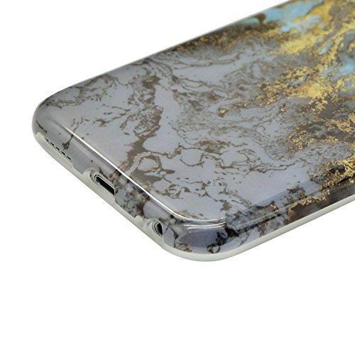 Funda para iPhone 5 / iPhone SE / iPhone 5S Sunroyal Premium Mármol Suave TPU Carcasa Parachoques Bumper Tapa Flexible Silicona Portátil Protectora Absorción de Golpes Case Ultra Delgado Caja del Telé A-27