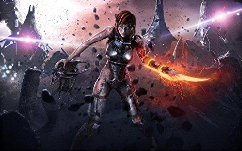 Da Bang Art Girl Weapons Clothes Mass Effect 3 20X30 Inch Poster Print