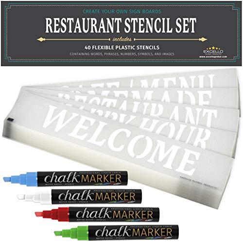 Restaurant Stencil Set (40 Stencils)