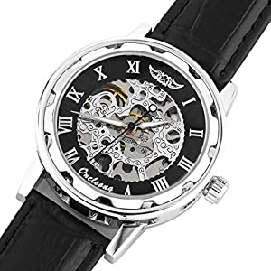 Men's Steampunk Skeleton Mechanical Watch