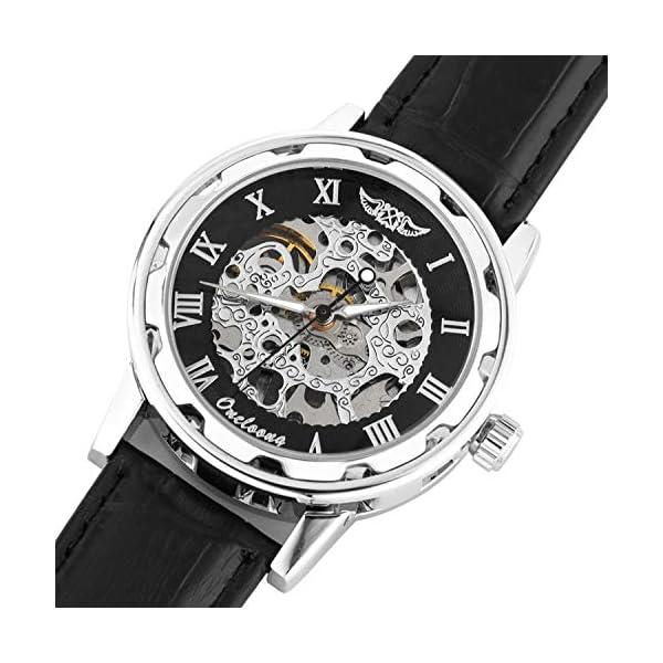 Men's Steampunk Skeleton Mechanical Watch 3