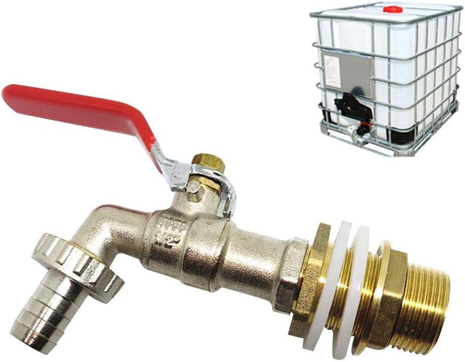 coil.c IBC Auslaufhahn IBC Tank Adapter hochwertiger IBC Container Zubeh/ör Adapter f/ür IBC-Regenwassertank