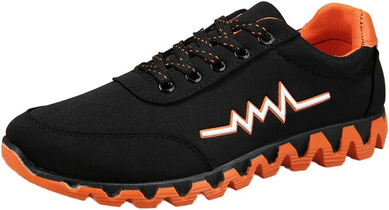 Zapatillas de Deporte para Hombre de Lona con Cordones, Naranja ...