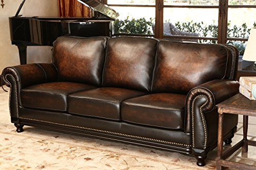 abbyson living barclay hand rubbed leather sofa amazon co uk rh amazon co uk abbyson living sofa reviews abbyson living furniture