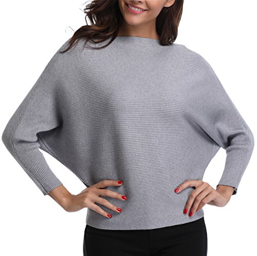 MOLY Chaud Longue Hiver Mi Pullover MISS Loose Col Automne Sweater Pull Femme Rond Gris en Tricot Casual SqOwHdOp