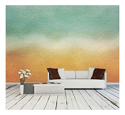 wall26 - Watercolor Paper Texture for Artwork - Removable Wall Mural | Self-Adhesive Large Wallpaper - 66x96 inches ()