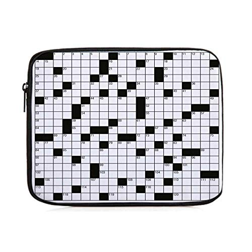 Word Search Puzzle,Classical Crossword Puzzle with Black and White Boxes and Numbers Decorative,One Size