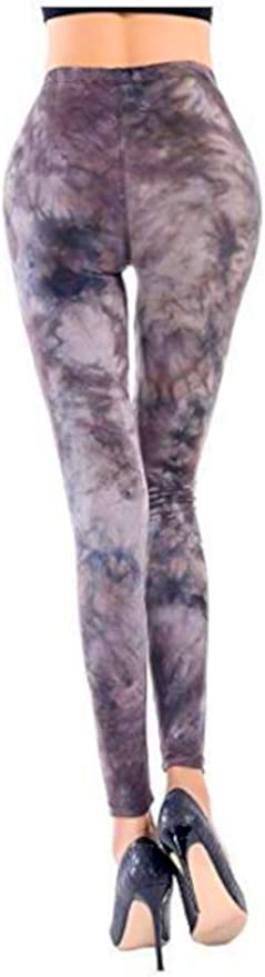 LADIES WOMENS TIE DYE GALAXY RAINBOW PASTEL PRINTED STRETCHY LEGGINGS UK 8-12