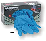 (20 Boxes) Majestic POWDERED DISPOSABLE NITRILE GLOVES, 100/BOX - SMALL(3274/ 8)