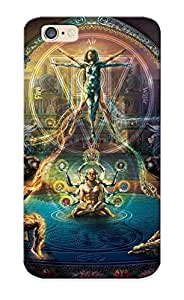 QGwHPzW4784sEMZQ Tough Iphone 6 Case Cover/ Case For Iphone 6(the Rebirth Of Venus Painting By Fred Andrews Elements Sacred Geometry Psychedelic Fantasy ) / New Year's Day's Gift