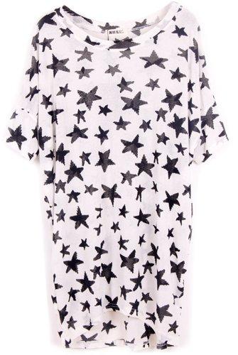 Mujer Camisa Casual Multicolor Moda Estrella Asia Blusa Anuncios qpSx7w8W