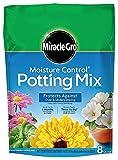 Miracle-Gro Moisture Control Potting Mix, 0.26-Cubic Feet (8qt.), 2 Units