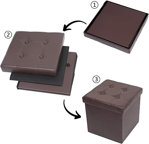 Reviewed: BELIFEGLORY Folding Storage Ottoman Cubic Cuboid Storage Bench Storage Chest Storage Box Faux Leather Footrest Coffee Table