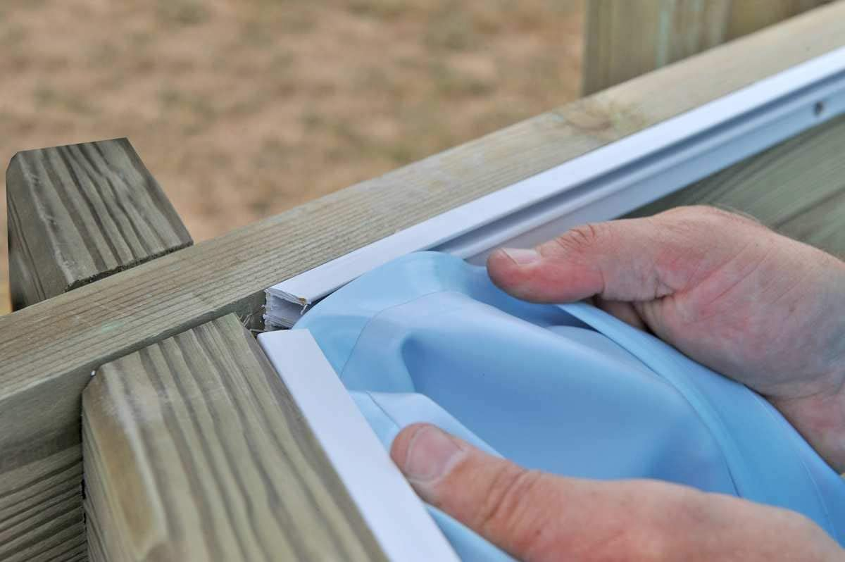 Liner azul para piscinas de madera Gre Wooden - 300 x 300 cm ...