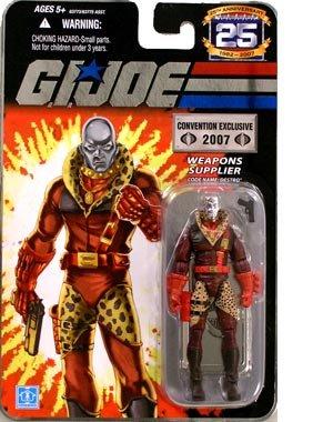 """G.I. JOE Hasbro 25th Anniversary 3 3/4"""" 2007 Comic-Con Exclusive Action Figure Leopard Print Destro [Silver Head]"""
