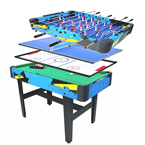 Pinty 48''/50'' Foosball Table Competition Sized Soccer Table Game & 72''/84'' Air Hockey Table for Kids & Adults Use Game Room (48