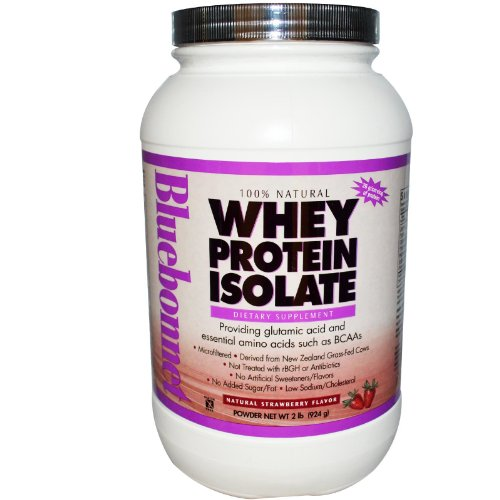 BlueBonnet 100% Natural Whey Protein Isolate Powder, Strawbe