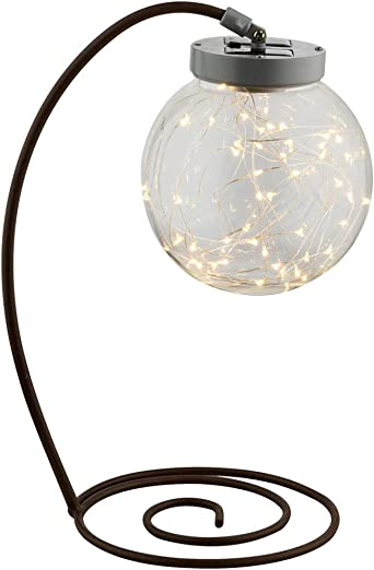 Lámpara solar LED de mesa con bola, 50 LED de 0,06 W, incluye 3 W ...