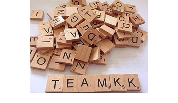 Equipo K K REG 200 Scrabble de madera letras: Amazon.es: Oficina y papelería