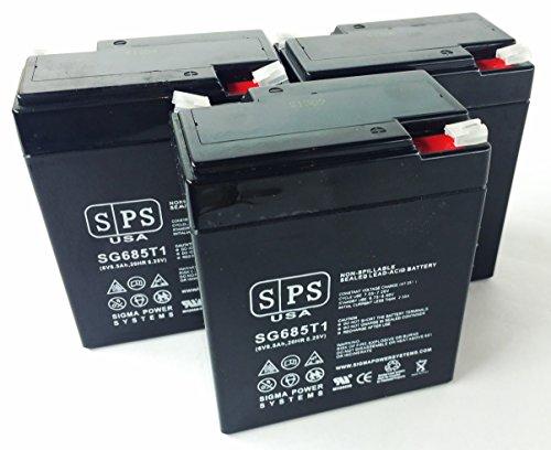 Siemens Gamma Camera LEM SLA Battery 6V 8.5Ah SPS Brand (3 Pack)