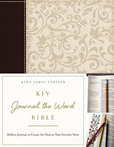 Bible Wedding Gift (KJV, Journal the Word Bible, Imitation Leather, Brown/Cream, Red Letter Edition: Reflect, Journal, or Create Art Next to Your Favorite Verses)