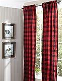 Buffalo Check Lined Panel Pair, 72 x 95 Window Curtain Drapery …