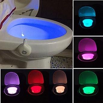 Motion activated toilet night light bowl bathroom led 8 color lamp motion activated toilet night light bowl bathroom led 8 color lamp sensor lights aloadofball Choice Image