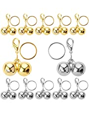 LUTER 12Pcs Pet Collar Bells, Metal Loud Pet Training Bell Charms Pendant for Cats Dogs Necklace Collar (Silver, Gold)