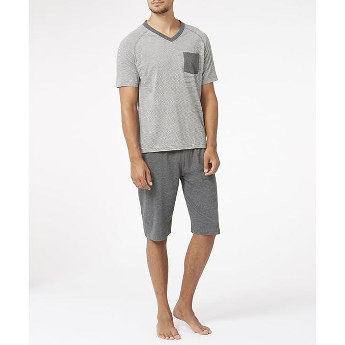 Wolsey Banda De Jersey Set Pijama De Los Hombres T-shirt Y Pantalones Cortos ,